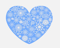 Heart with snowflakes Stock Photo
