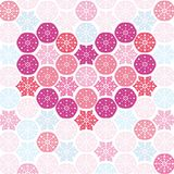 Heart with snowflakes Stock Photography