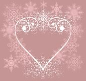 Heart from snowflakes Royalty Free Stock Images