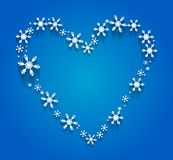 Heart of the Snowflakes Royalty Free Stock Photos