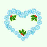 The heart of snowflakes Stock Photo