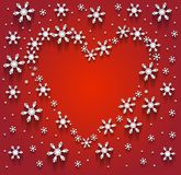 Heart of the Snowflakes Stock Image