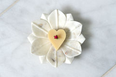Heart soap royalty free stock images