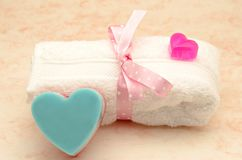 Heart soaps Stock Images