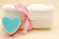 Heart soaps Royalty Free Stock Photography
