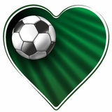 Heart and soccer ball Stock Photo