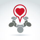 Heart and society icon, medical organization, medical fund, love Royalty Free Stock Images