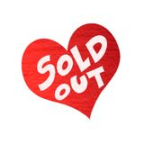 Heart sold out Stock Photos