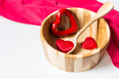 heart soup Royalty Free Stock Image
