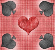Heart and spades   Royalty Free Stock Image