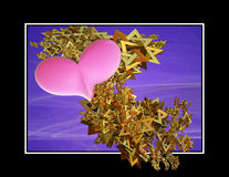Heart Spangles Three Dimensional Stock Photos