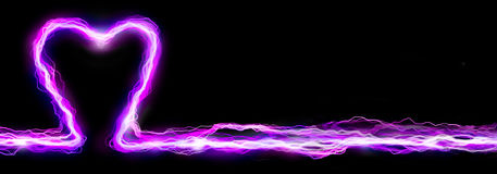 Heart Spark Banner Royalty Free Stock Images