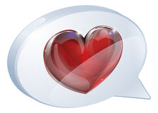 Heart speech bubble Royalty Free Stock Images