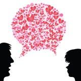 Heart speech bubble Stock Images