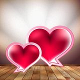 Heart speech bubble design template. EPS 10 Stock Photography