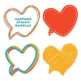 Heart speech bubbles. Stock Photo