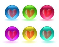 Heart in a sphere Royalty Free Stock Photos