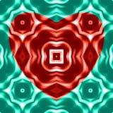heart spheres Орнамент форм Влияние краски масла Стоковое Изображение