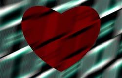 heart spheres 在图片的条纹 库存照片