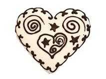 Heart spice cake Stock Photography