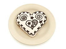 Heart spice cake Stock Image