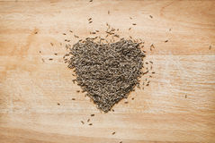 Heart from spices Stock Photos
