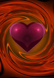 Heart spin. Colorful abstract graphic design showing a heart in passionate reds Stock Images