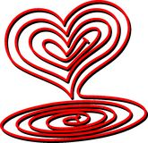 Heart Spiral Royalty Free Stock Photography