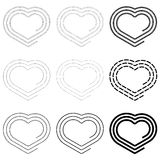 Heart-spiral Stock Photos