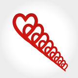 Heart Spiral Stock Photography