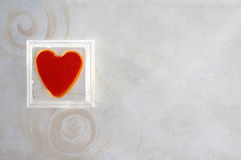 Heart and Spirals Background Stock Photo