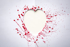 Heart with splash of red watercolor Royalty Free Stock Photos