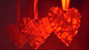 Heart in splashes stock video