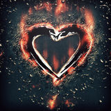 Heart with splinters Royalty Free Stock Images