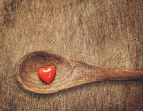 Heart on spoon Stock Photography