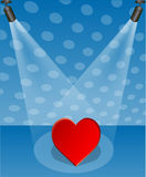 Heart in the spotlight stock illustration