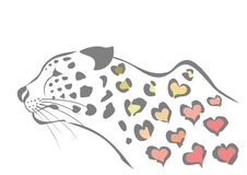 Heart spotted leopard Royalty Free Stock Photography