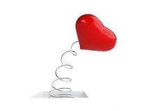 Heart on a spring Stock Photos