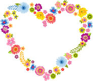 Heart Spring Flower Frame Royalty Free Stock Images
