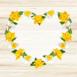 Heart of spring flowers Royalty Free Stock Photo