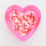 Heart Sprinkles Royalty Free Stock Photography