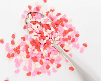 Heart Sprinkles Stock Images