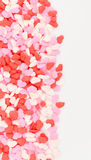 Heart Sprinkles Border Royalty Free Stock Image