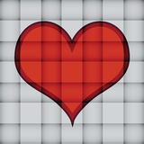 Heart on square pattern Stock Images