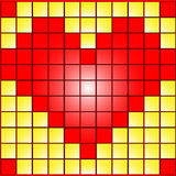 Heart in squares Stock Photography