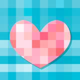 Heart of the squares. Beautiful heart vector mosaic for Valentine's Day Royalty Free Stock Image