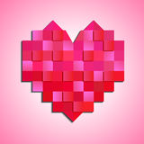 Heart of squares. Red heart of squares vector illustration Stock Photo