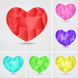 Heart by St. Valentine's Day. Heart in the form of a mosaic, diamond. Vector illustration. Design for Valentine's Day. Set Royalty Free Illustration