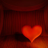 Heart on stage Royalty Free Stock Photo