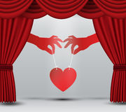 Heart on stage Royalty Free Stock Photography